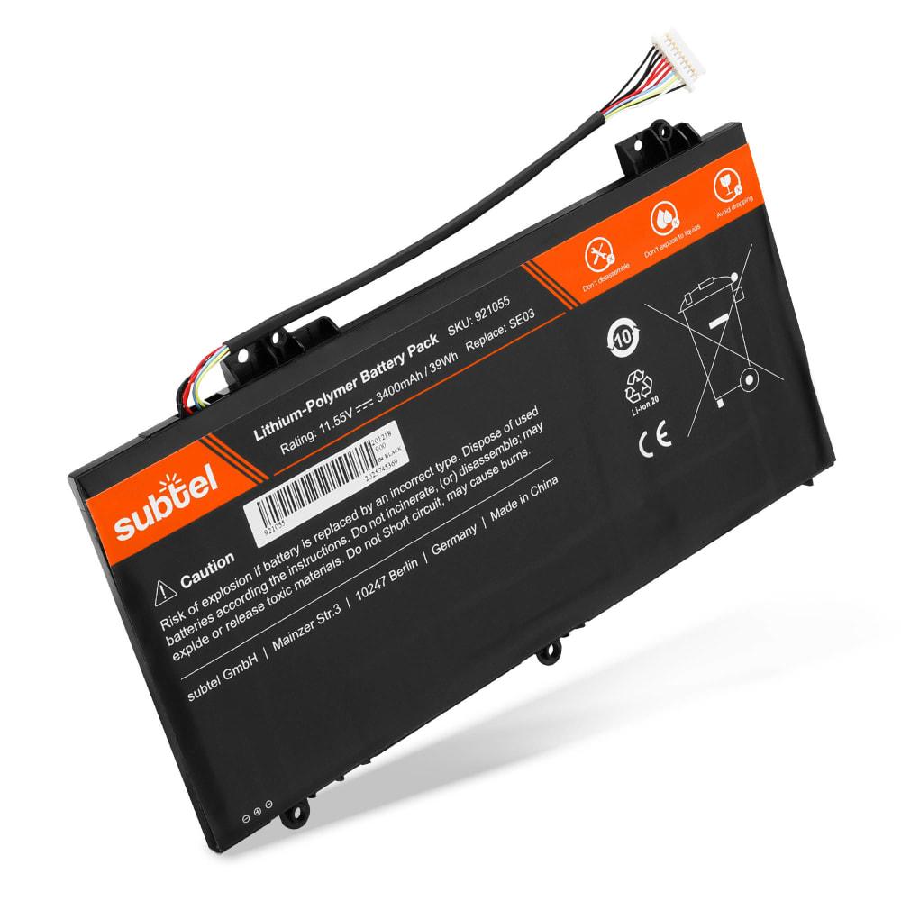 Batterie de remplacement pour ordinateur portable HP Pavilion 14-al000 / 14-al100 serie - SE03XL 3400mAh