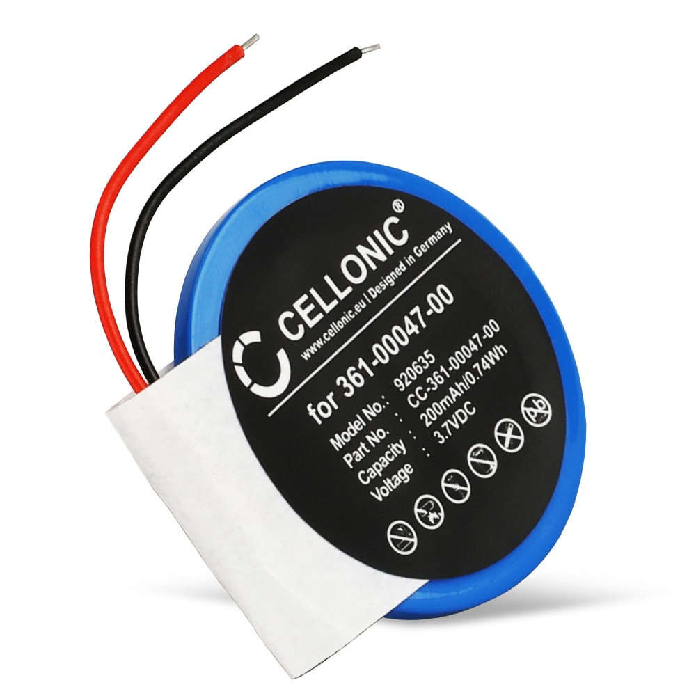 Batterie de remplacement pour montre Garmin Forerunner 210, 110, S1 / Approach S4, S3, S1 - 361-00047-00 361-00064-00 200mAh