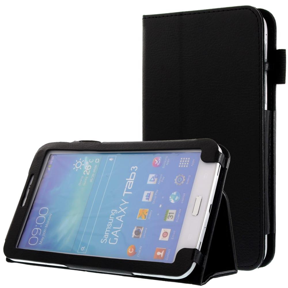 Etui Smart Case pour Samsung Galaxy Tab 3 7.0 (SM-T210 / SM-T211 / SM-T215) - Cuir synthétique, noir Housse Pochette