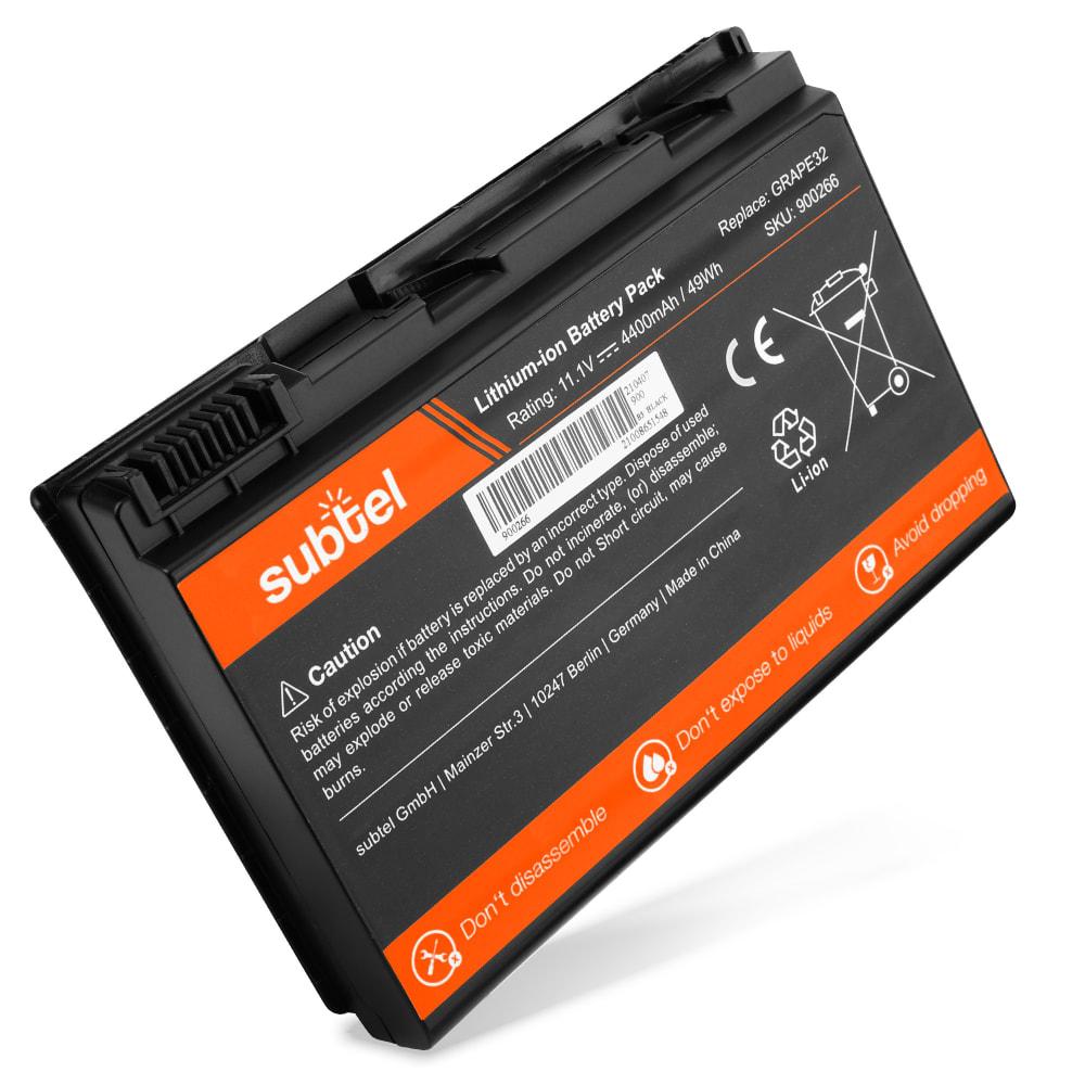 Batteria subtel® GRAPE32 (10.8V)* per Acer Extensa 5230 / 5620 / 5630 / TravelMate 5720 / 6410 / 6460 / 7520 / 7720 Affidabile ricambio da 4400mAh Sostituzione ottimale