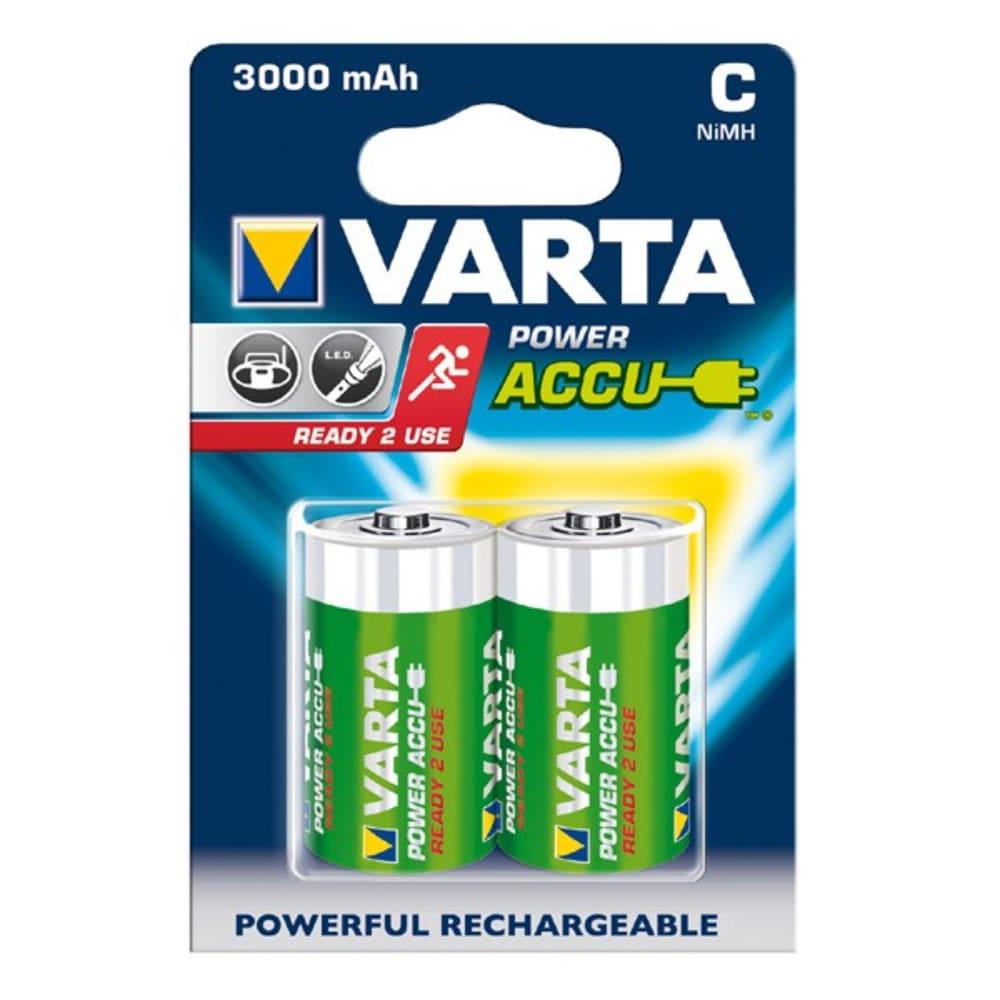 Uppladdningsbara batterier C / Baby (LR14) Varta Power Accu Varta 56714 2x