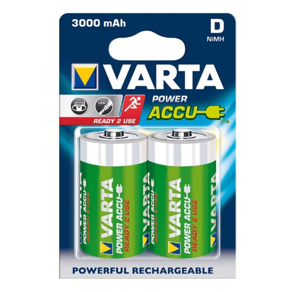 Uppladdningsbara batterier D / Mono Varta Power Accu Varta 56720 (3,000mAh) 2x