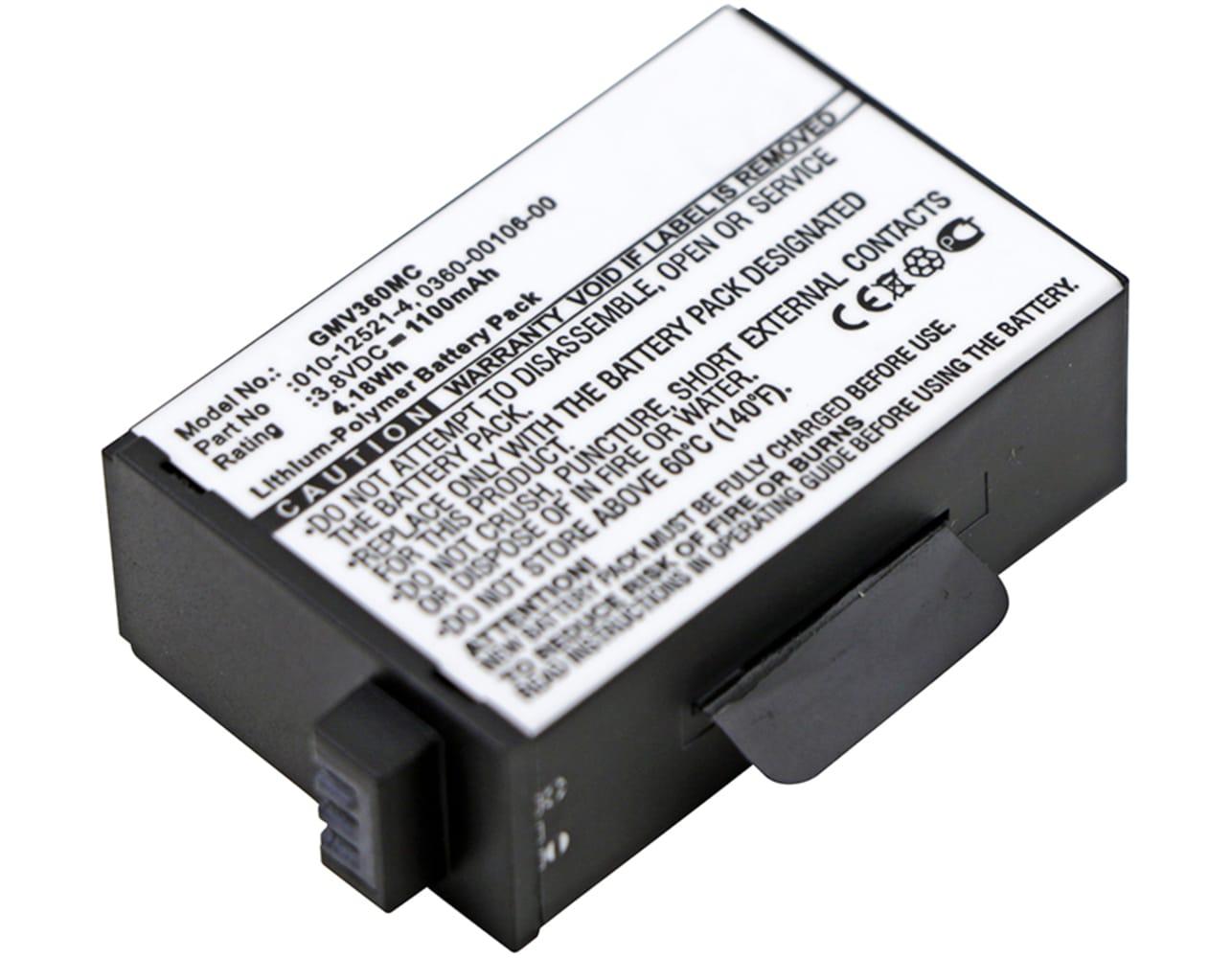 Batterie pour appareil photo Garmin Virb 360° Camera, Virb 360 - 010-12521-40,360-00106-00 1100mAh Batterie Remplacement