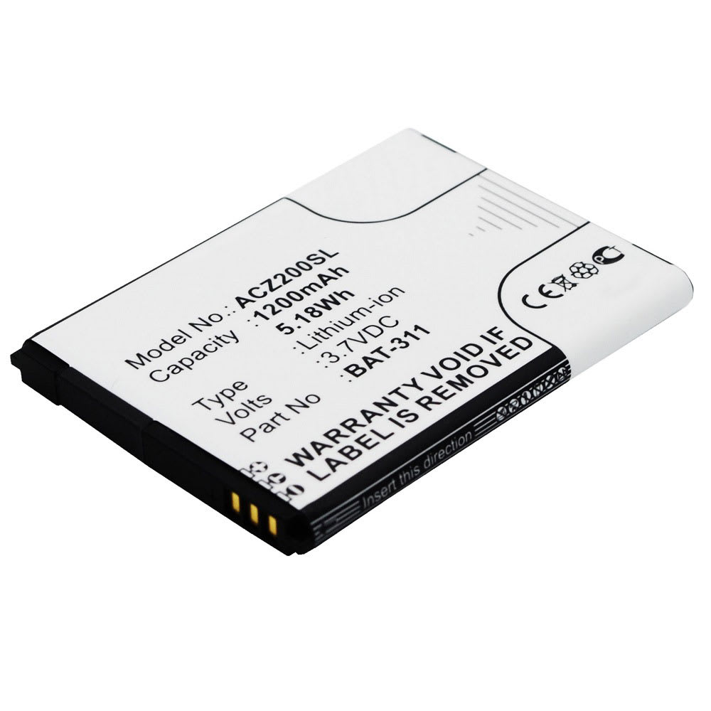 Batteria subtel® per Acer Liquid Z220 / Z200 / M220 Ricambio da 1200mAh Sostituzione batteria affidabile