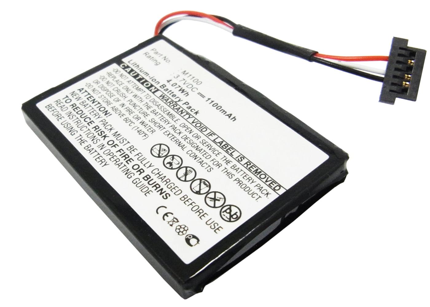 subtel® M1100 GPS-batteri för Medion GoPal E42xx / MD 97xxx Series / MD 98090 med 1100mAh - navigatorbatteri med lång batteritid