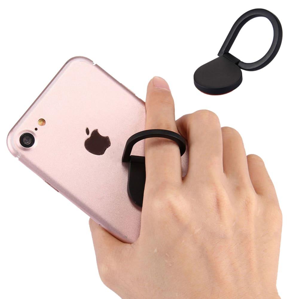 Porte-anneau à doigts pour smartphones, noir