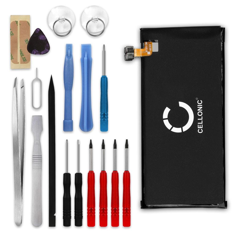 Batterie pour téléphone portableAlcatel Pop 4 Plus / One Touch Pop 4 Plus (5056 / 5056D) - TLP025C1, TLP025C2, 2500mAh interne neuve + Set de micro vissage, kit de remplacement / rechange