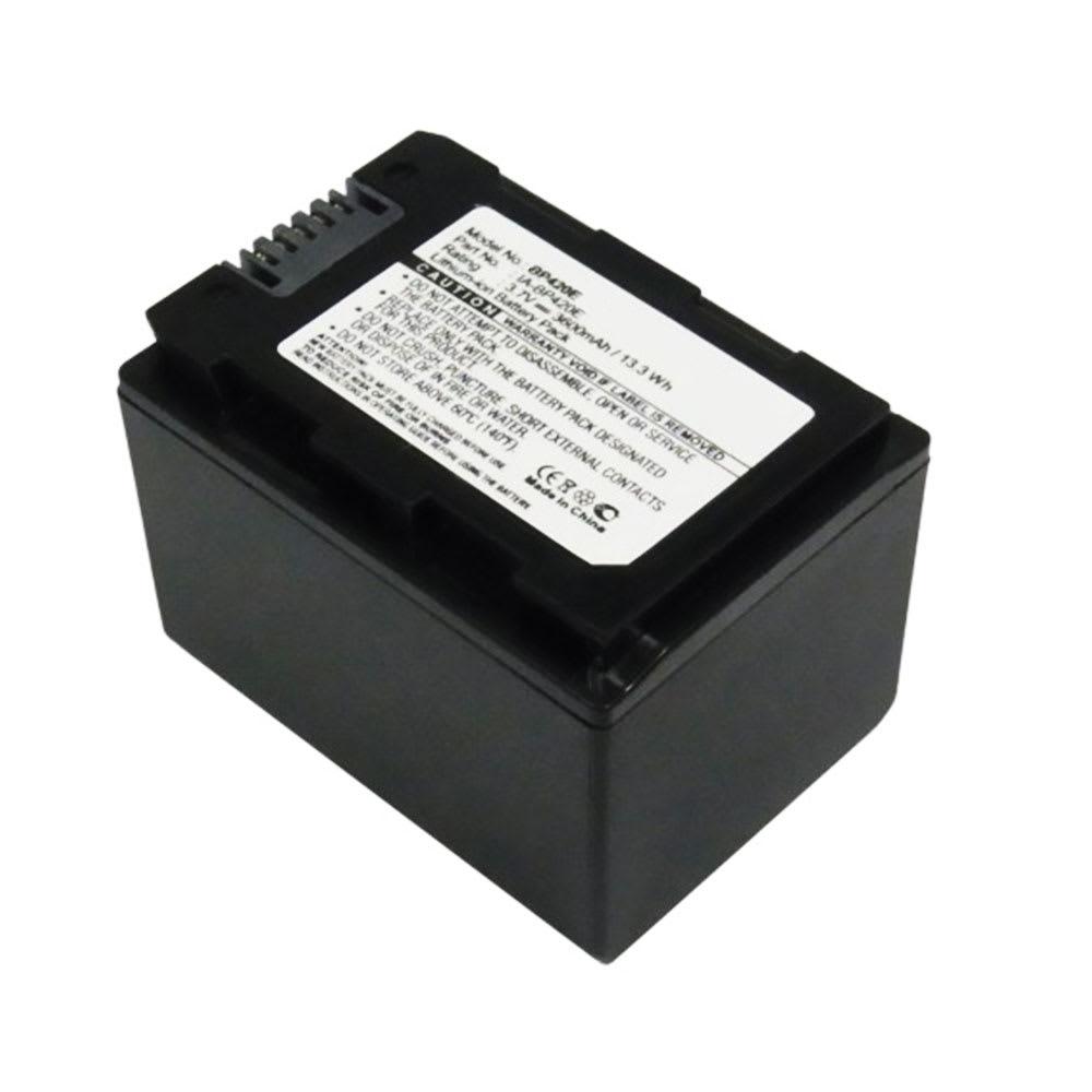 IA-BP420E,IA-BP105R Batteri för Samsung HMX-F90, -F80, -H300, -H200, HMX-H400, HMX-S15, SMX-F40, -F44, 3600mAh Kamera-ersättningsbatterimed lång batteritid