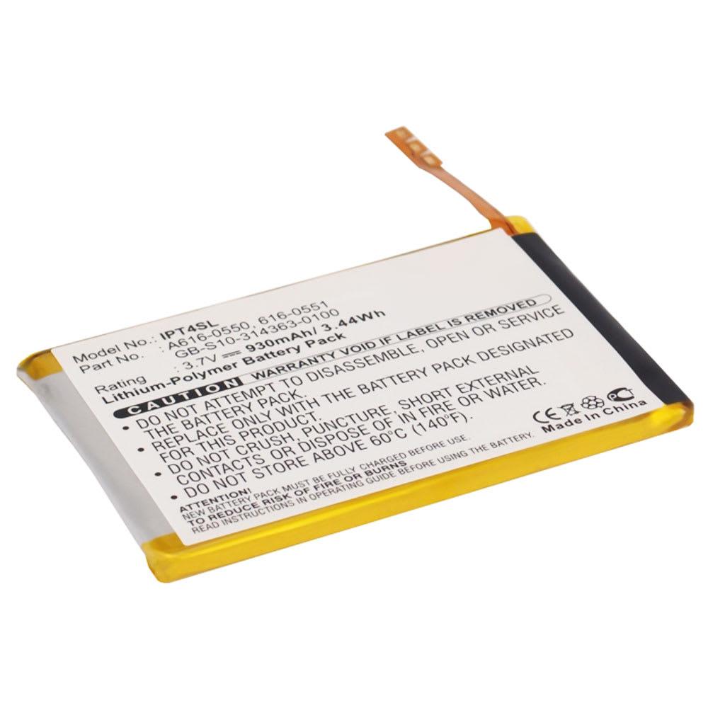 616-0550,616-0551,GB-S10-314363-0100,616-0552 Batteri för Apple iPod Touch 4 Gen. - A1367 - 930mAh Laddningsbart ersättningsbatteri eller reservbatteri
