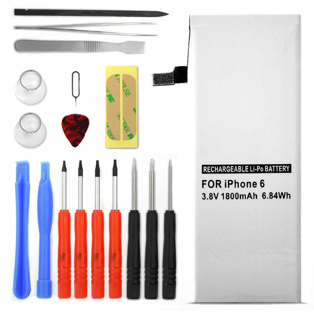Batterie pour téléphone portableApple iPhone 6 (A1586 / A1549 / A1589) - , 1810mAh interne neuve + Set de micro vissage, kit de remplacement / rechange