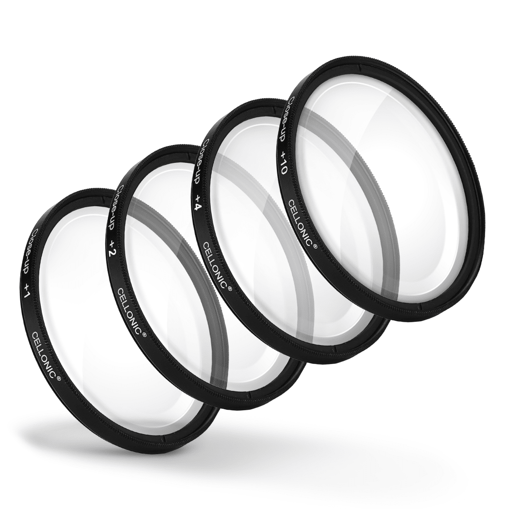 4x Filtres de gros plan Macro pour Olympus 11-22mm 1:2.8-3.5 12-60mm 1:2.8-4.0 40-150mm 1:2.8 (Ø 72mm) Filtre Close-Up