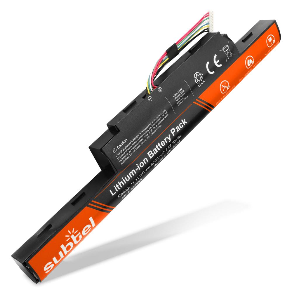 Batterie de remplacement pour ordinateur portable Acer Aspire E5-575 / Travelmate P259-G2-M - AS16B8J 5200mAh