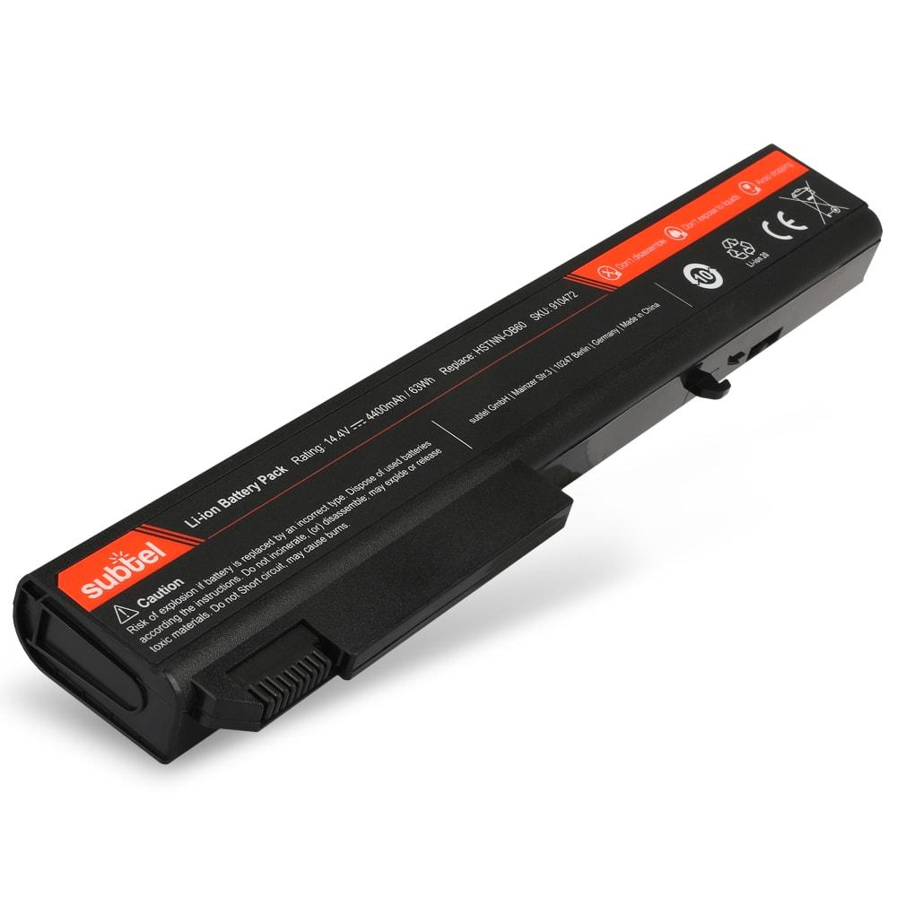 subtel® HSTNN-OB60 laptop-batteri för HP EliteBook 8530p / 8530w / 8540p / 8540w / 8730w / 8740w med 4400mAh / 63.36Wh - Ersättningsbatteri, reservbatteri till bärbar dator