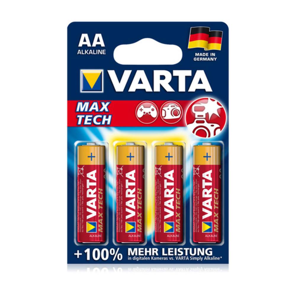 Batteries AA Varta Max Tech Varta 4706 4x LR6, LR06