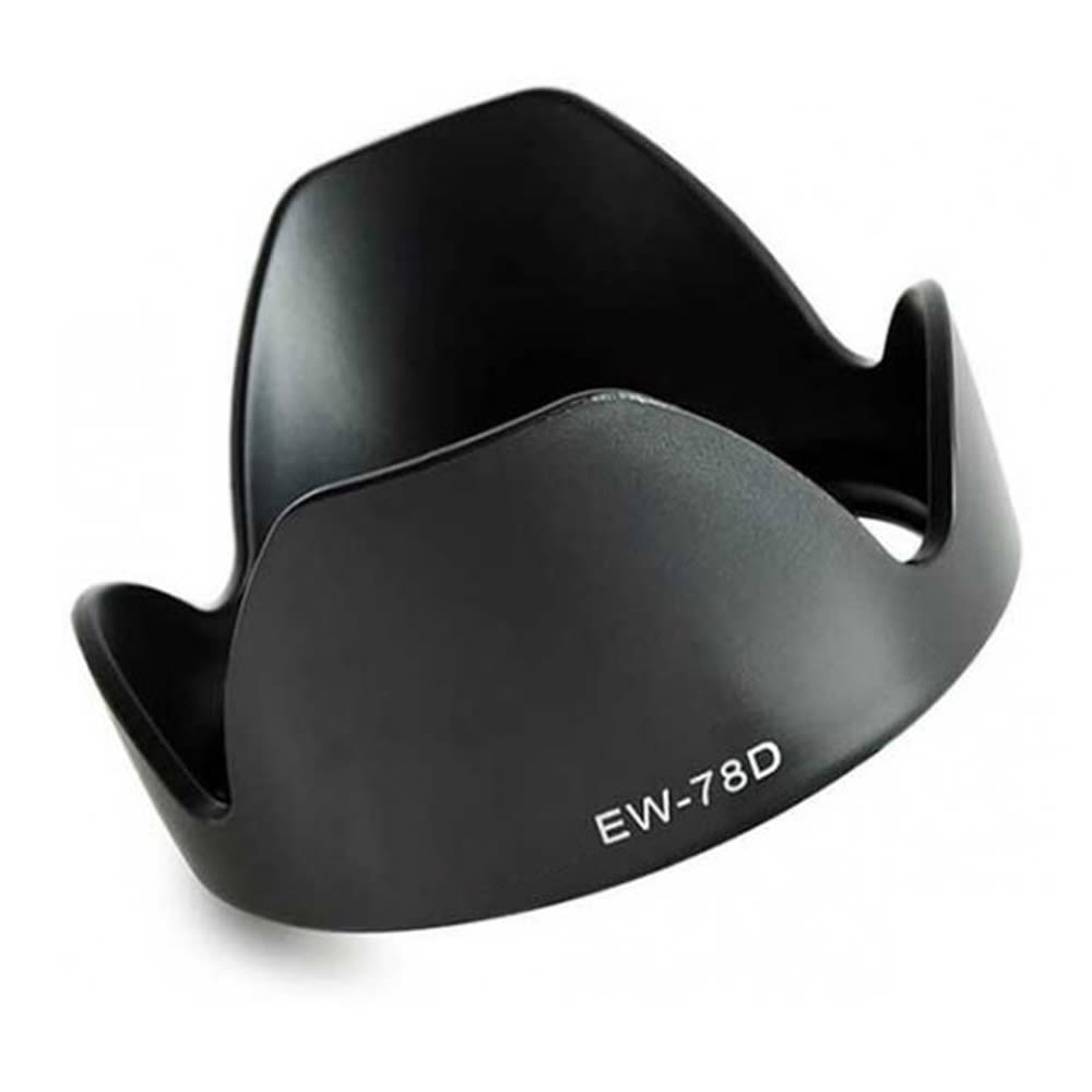CELLONIC® EW-78D Paraluce per Canon EF 28-200mm f3.5-5.6 USM, EF-S 18-200mm f/3.5-5.6 IS Cappuccio Obiettivo Materiale sinteticoParasole