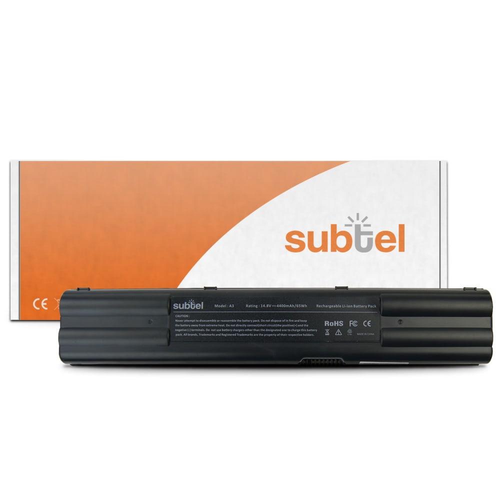 subtel® A42-A6 laptop-batteri för Asus A3 / A3000 / A6 / A6000 / A7 / G1 / G2 / Z91 / Z9100 / Z92 / Z9200 med 4400mAh - Ersättningsbatteri, reservbatteri till bärbar dator