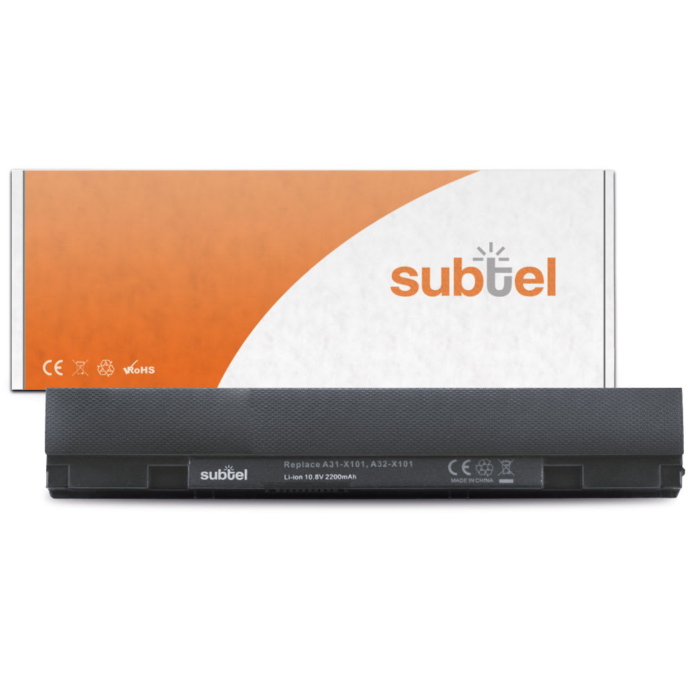 subtel® Laptop Battery for ASUS Eee PC X101 / X101CH / X101H / R11CX A31-X101 2200mAh Notebook Replacement Battery Power Bank