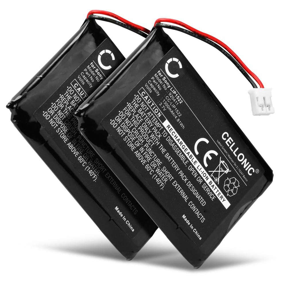 2x Batterie pour Manette PS4 V1 (2013) - DualShock 4 LIP1522 (1300mAh), Batterie de remplacement pour Contrôleur Playstation 4 1ère Édition