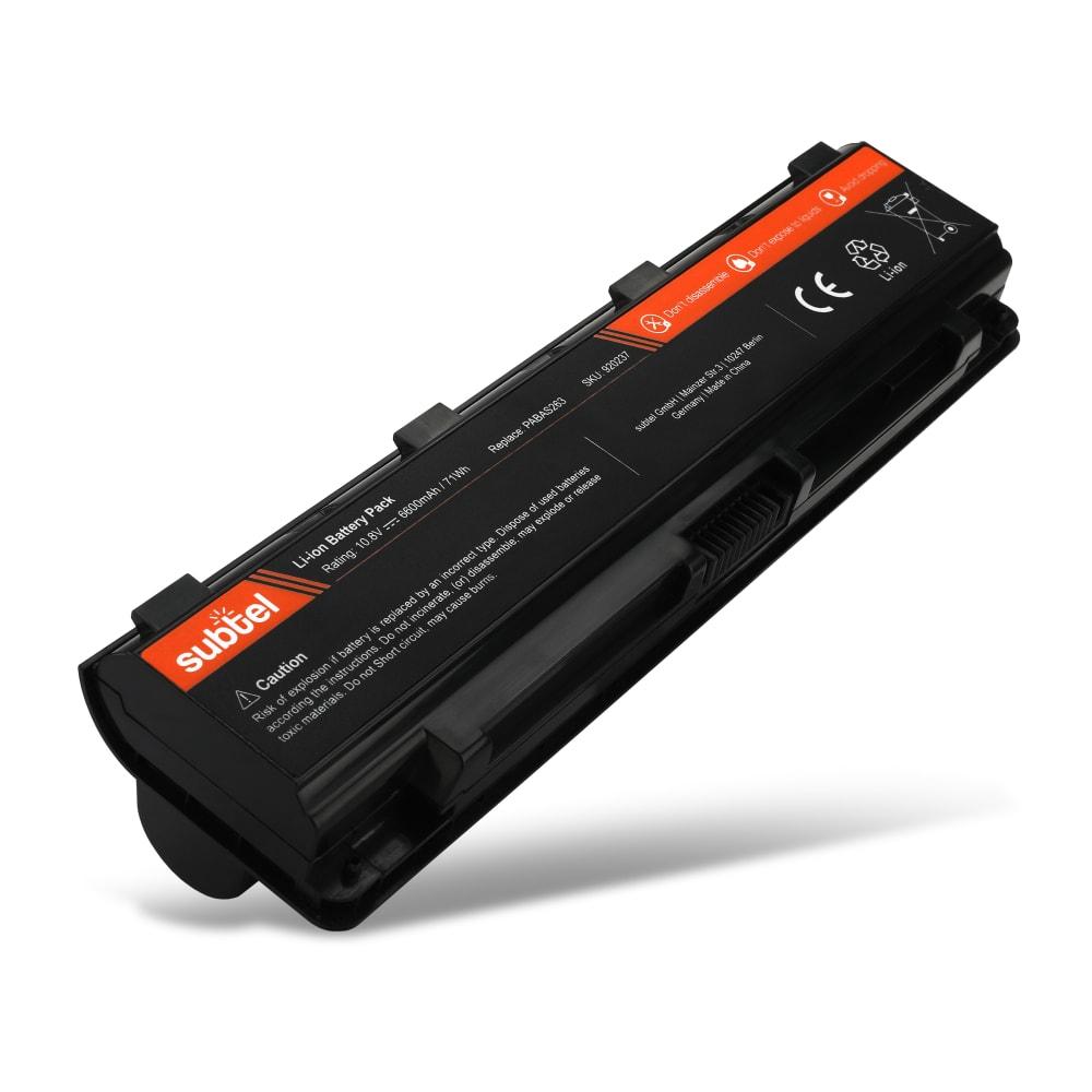 Batterie de remplacement pour ordinateur portable Toshiba Satellite C50-A / C55D-A / C850-A / C850-B / S70T-A - PABAS260 6600mAh