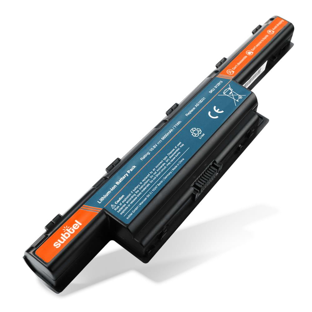 bærbar batteri til eMachines D440 / D442 / D528 / D530 / D640 / D640G / D642 / D728 / D730 / D732 / E440 - AS10D51 (6600mAh) Notebook udskiftsningsbatteri og ekstra batteri til computer