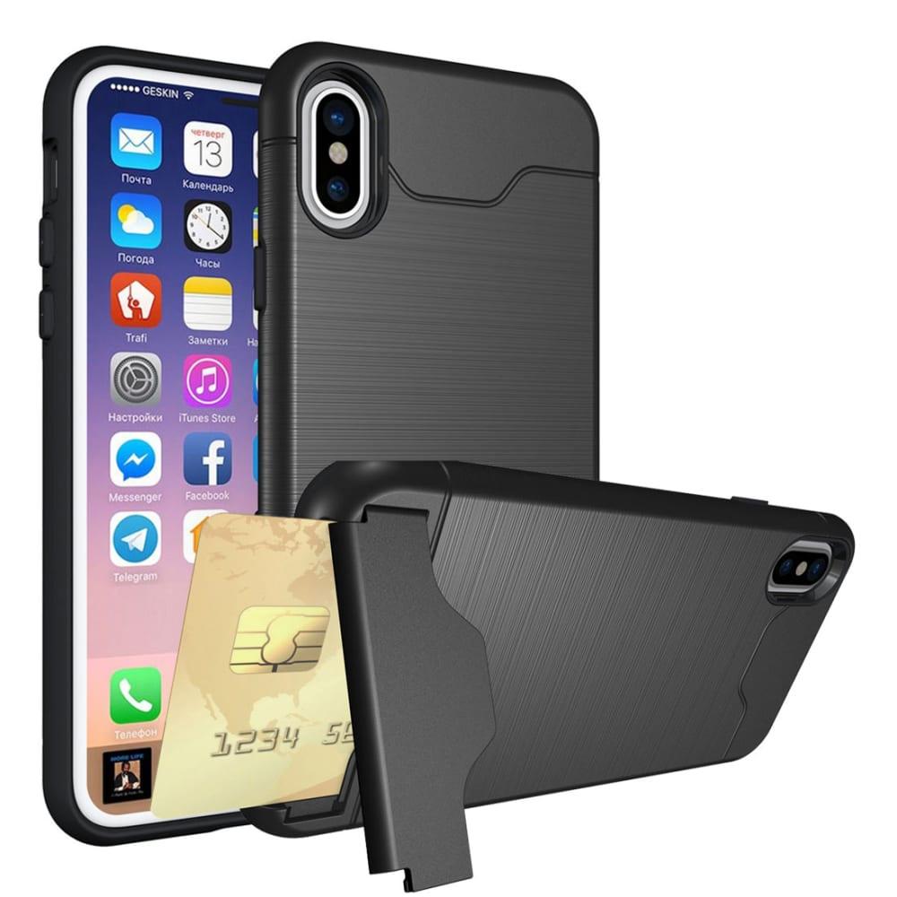 Backcover für Apple iPhone X - TPU, schwarz Tasche, Case, Etui, Hülle