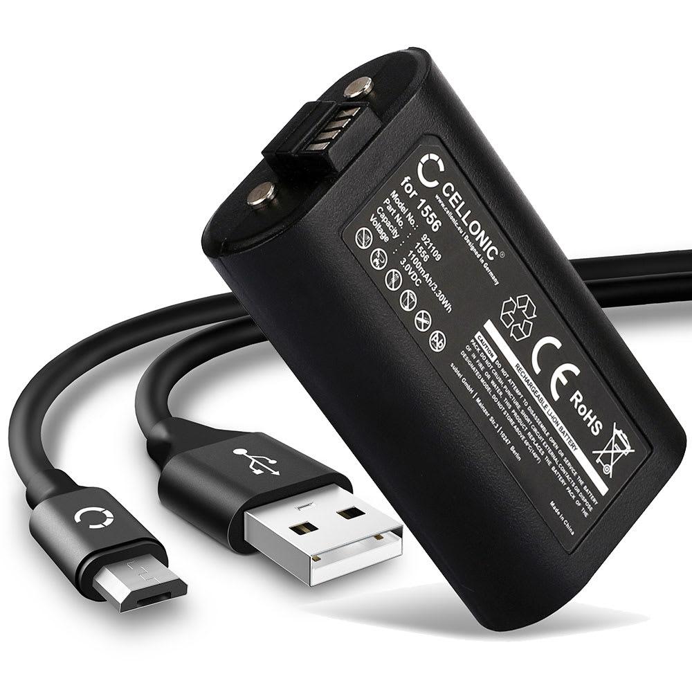 Batterie pour Microsoft Xbox One Controller - 1556 1100mAh + Câble USB