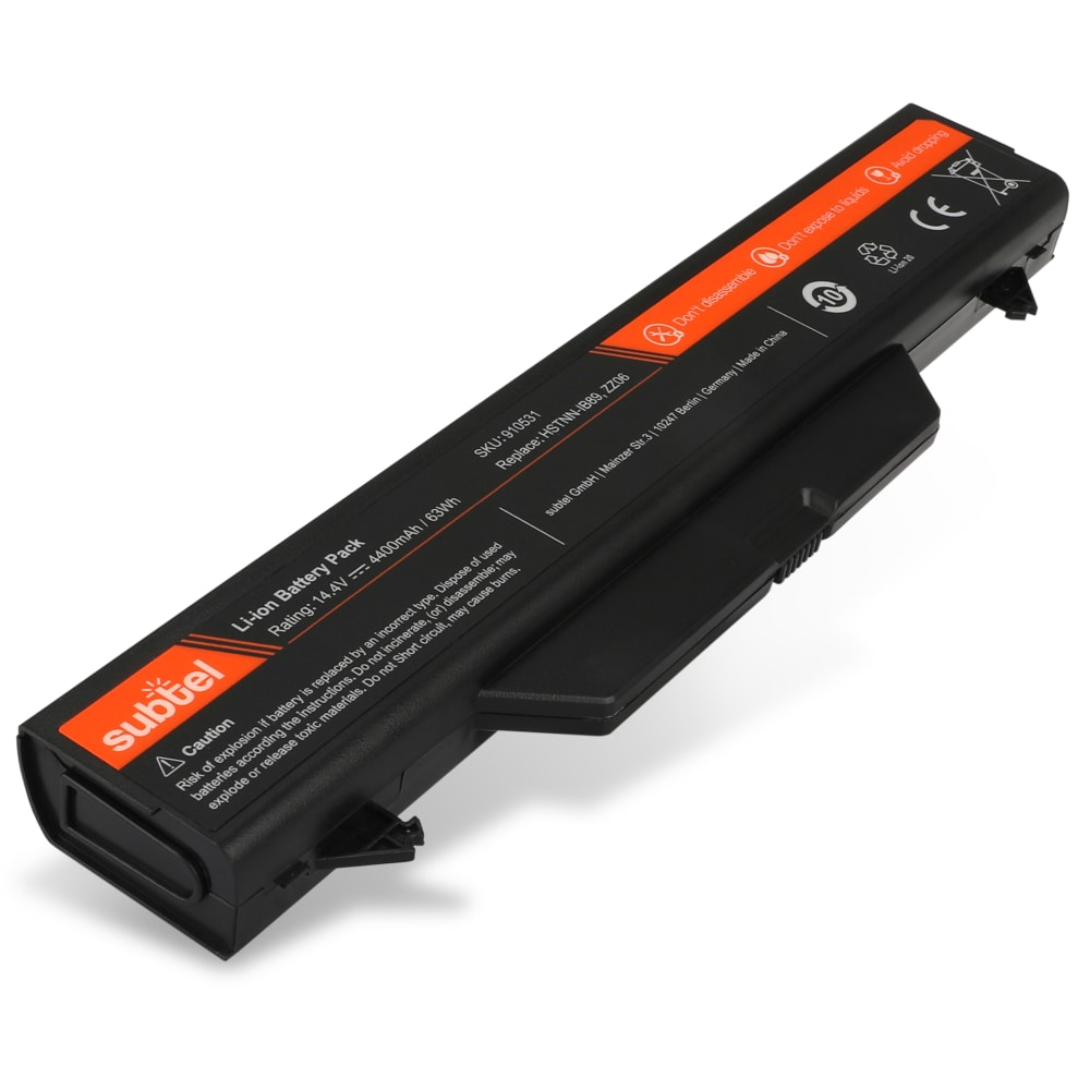 subtel® ZZ06 laptop-batteri för HP ProBook 4510s 4515s 4710s 4720s med 4400mAh - Ersättningsbatteri, reservbatteri till bärbar dator