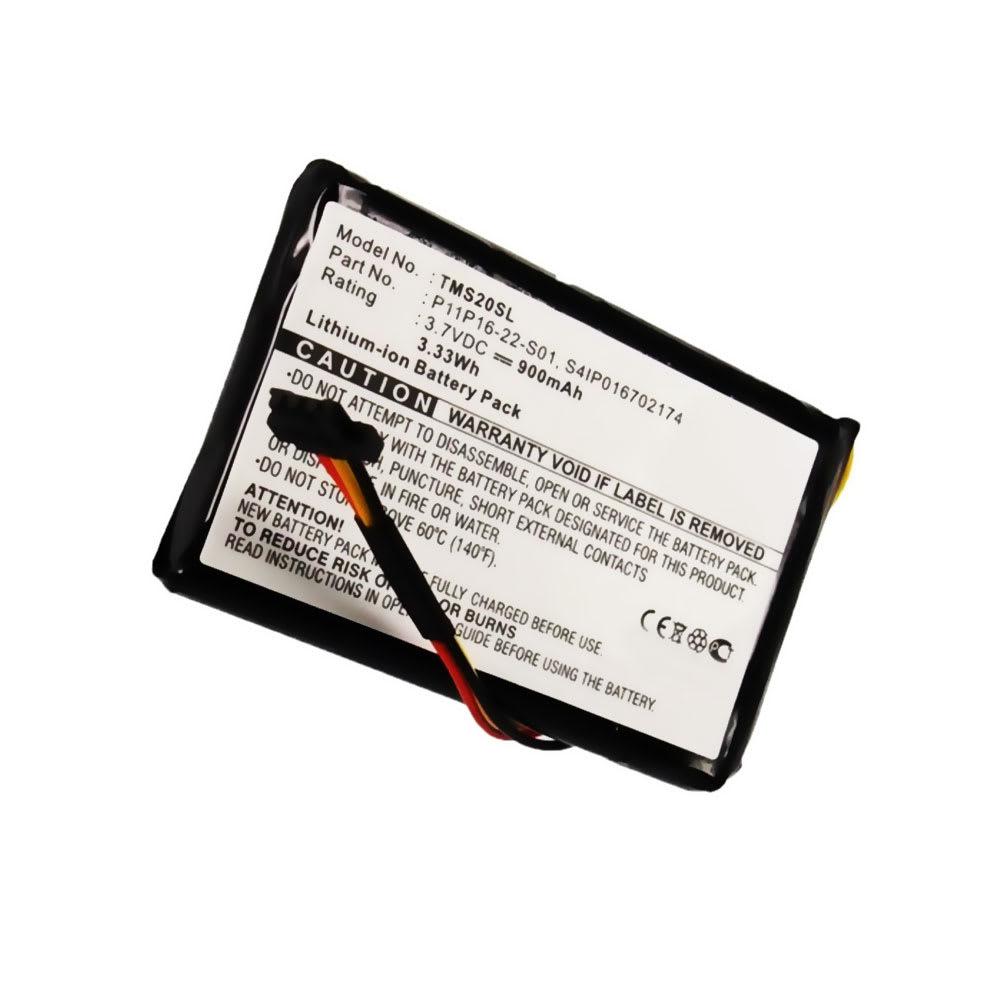Batterie pour navigateur GPS TomTom 4ET0.002.07, Start XL Central Europe Traffic, Start XL Europe Traffic - P11P16-22-S01,S4IP016702174 900mAh