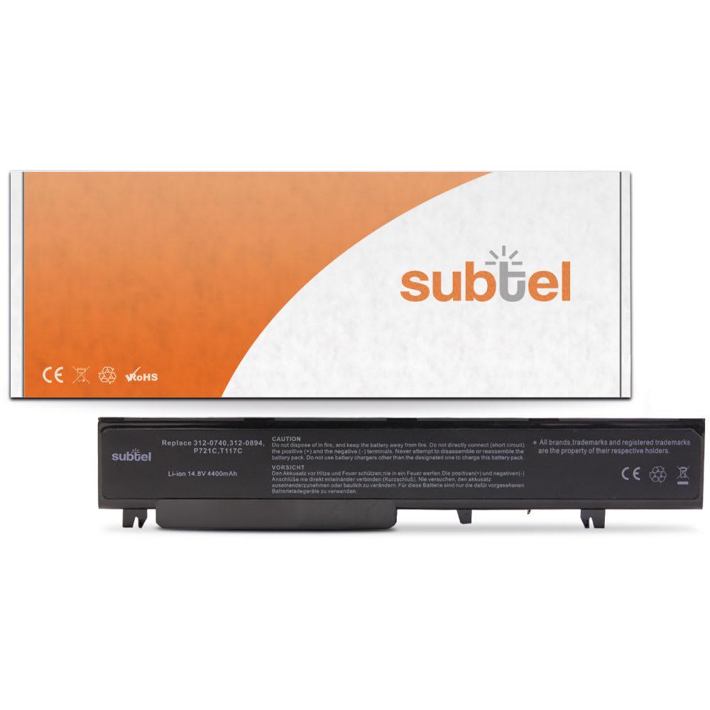 subtel® T117C laptop-batteri för Dell Vostro 1710 / Vostro 1720 med 4400mAh / 65.12Wh - Ersättningsbatteri, reservbatteri till bärbar dator