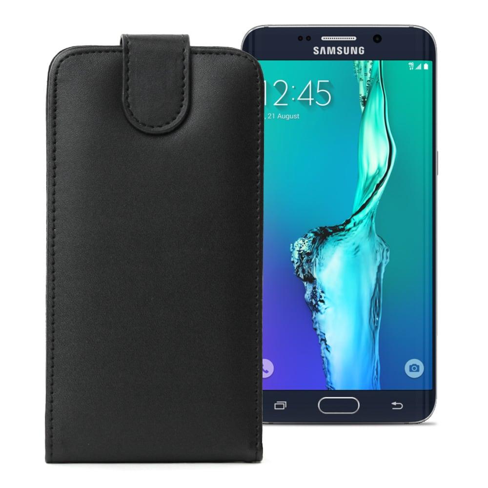 Handytasche für Samsung Galaxy S6 Edge Plus (SM-G928) - PU Leder, schwarz Tasche, Case, Etui, Hülle