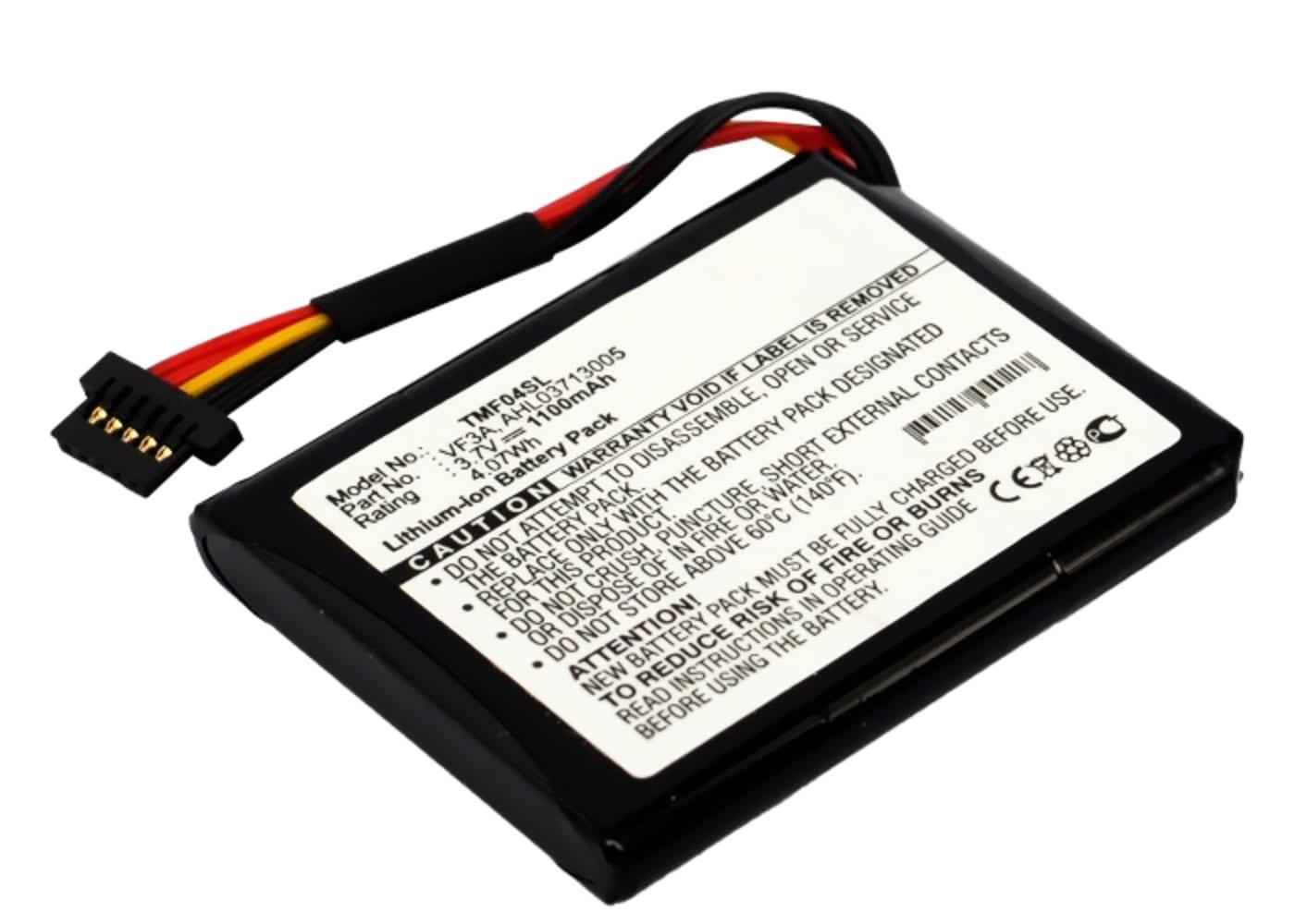 Batterie pour navigateur GPS TomTom 4EL0.001.01 Via 120 Live Western Europe XL 340M Live XL 340TM Live XL Live XL Live TTS 4EL0.017.01 - AHL03710403 AHL03713005 VF3A VF3M 1100mAh