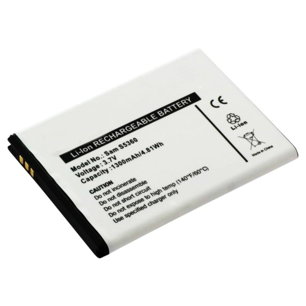 Batteri for Samsung Galaxy Y / Y Duos / Wave Y - EB454357VU (1300mAh) reservebatteri