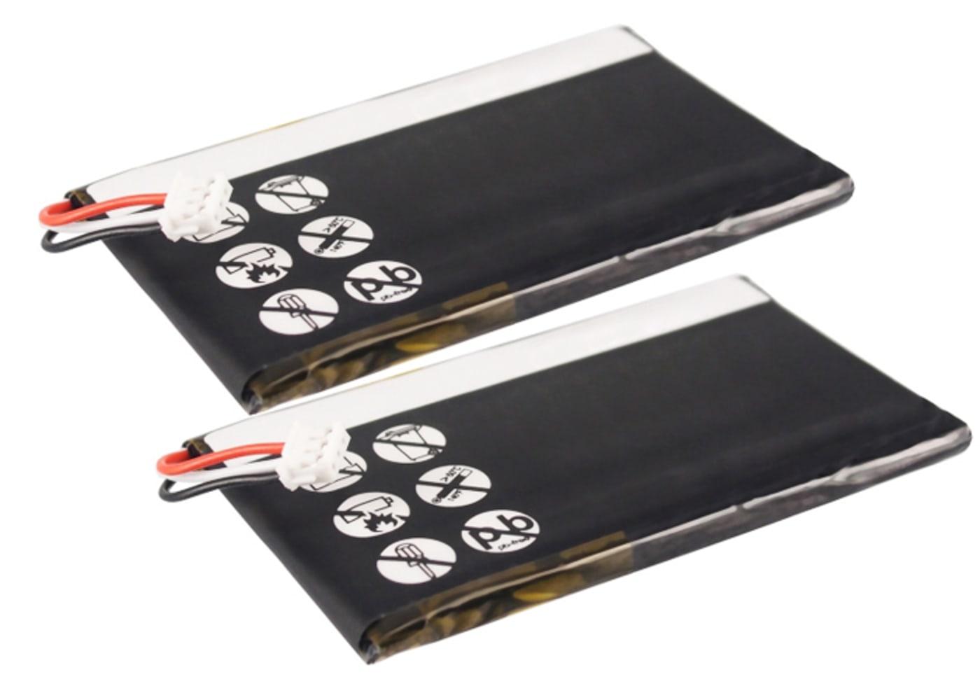 2x Batterie pour téléphone fixe Philips S10A, Philips S10A/38, Philips S10H - Philips PH454061 1200mAh