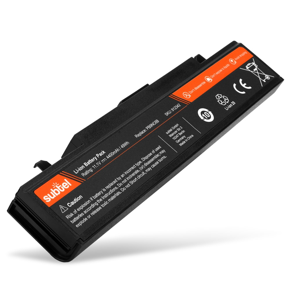 subtel® Laptop Battery for Samsung np300e5c / np350v5c / np300e5a / np355v5c / np305v5a / np350e7c PB9NC6B 4400mAh Notebook Replacement Battery Power Bank