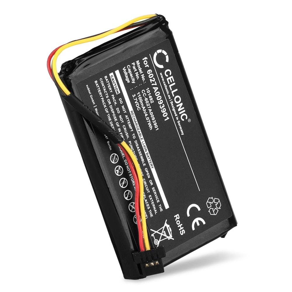 Batterie pour navigateur GPS TomTom 4EM0.001.01 XL IQ Routes Edition Central Europe Traffic Europe Traffic XXL IQ Routes Edition Europe - 6027A0093901 1100mAh