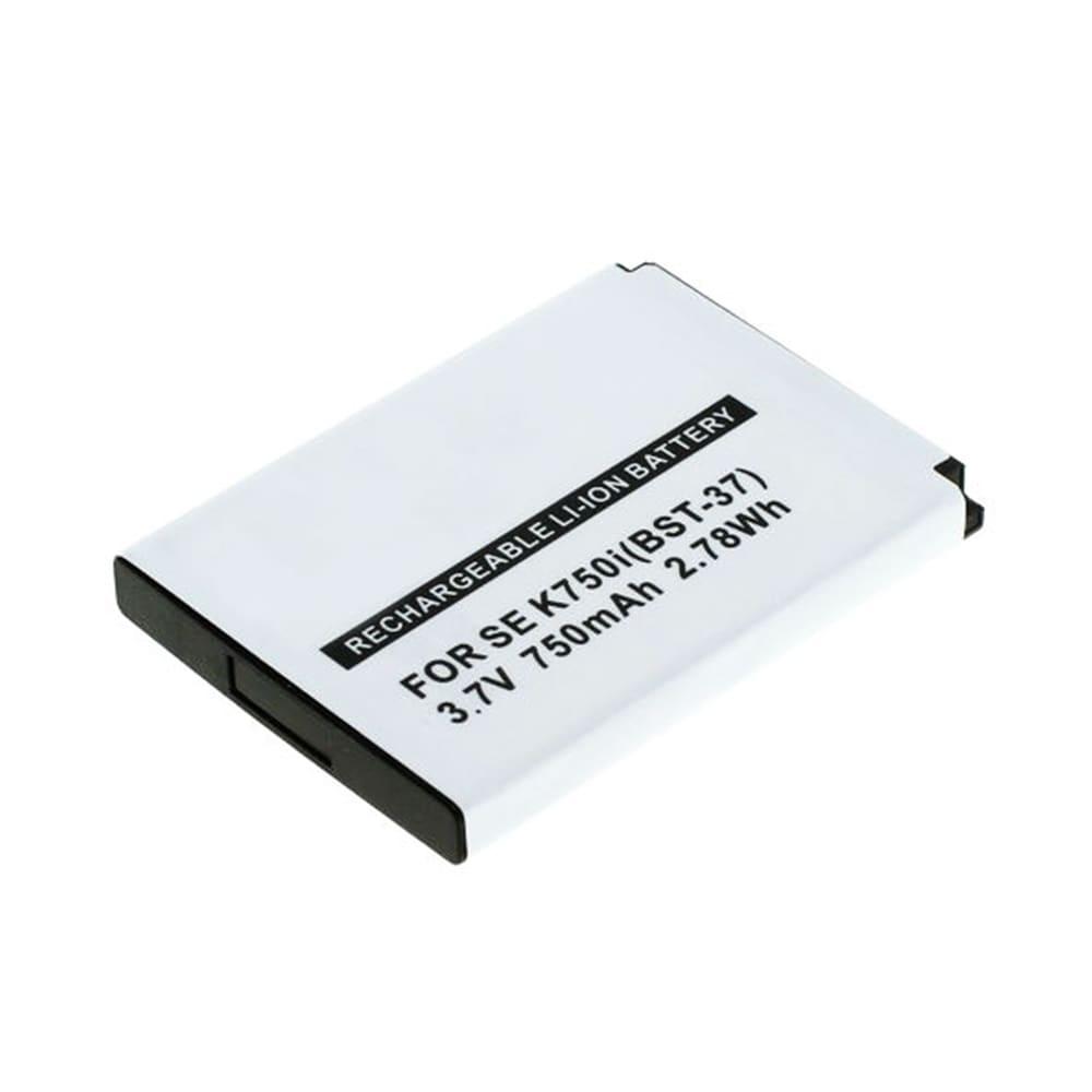 Batterie pour téléphone portableSony Ericsson W810i / W800i / W550i / W350i / K750i / K610i / J110i / V630i / Z520i - BST-37, 750mAh interne neuve , kit de remplacement / rechange