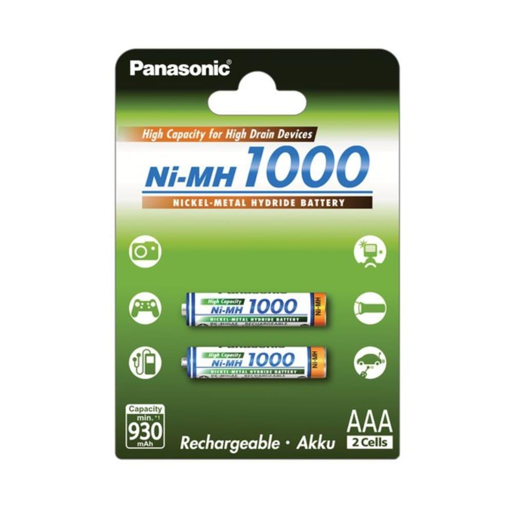 Accus Batteries AAA  Panasonic  BK-4HGAE 2x Micro, HR03, LR03, AAA