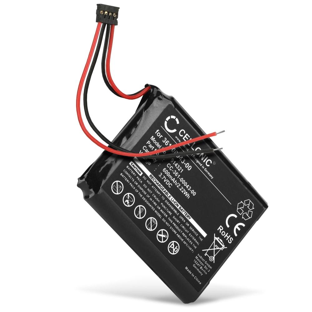 CELLONIC® 361-0043-00 361-0043-01 GPS-batteri för Garmin Edge 820, 520, 500, 205, 200 / Edge Explore 820 med 600mAh - navigatorbatteri med lång batteritid