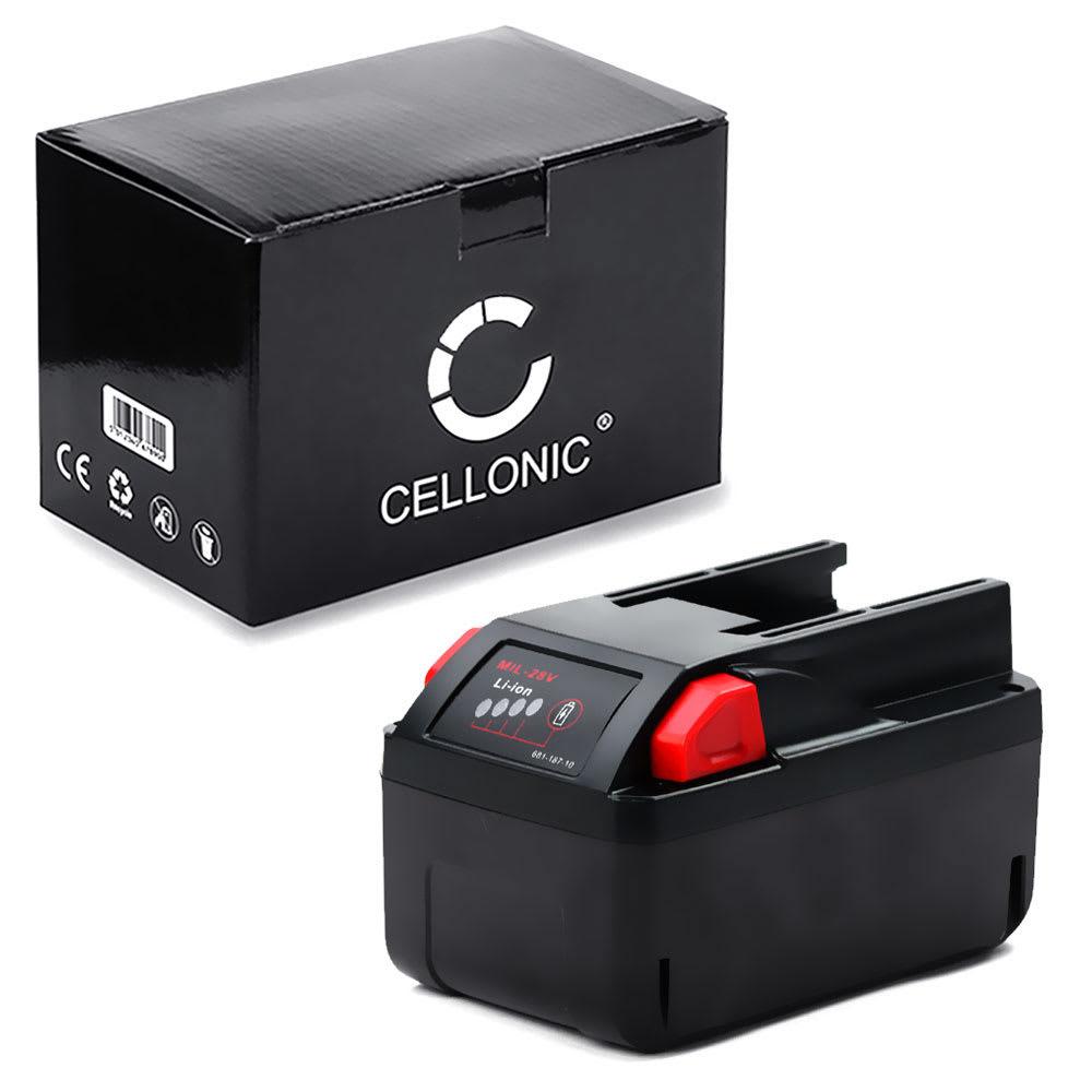 CELLONIC® 48-11-1830,48-11-2830 , 4932352732, 48-11-2850, 4932-3991-96 batteri för Milwaukee M28, HD28 PD, HD28 H, M28 CHPX, HD28SX trådlösa verktyg med 28V, 3Ah och Li Ion