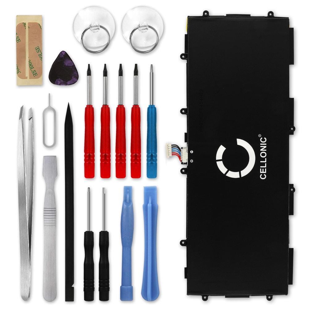 Batterie neuve de remplacement pour tablette Samsung Galaxy Note 10.1 2014 / Tab Pro 10.1 (SM-P600 / SM-P605 / SM-T520 / SM-T525) - T8220E 6600mAh + Set de micro vissage