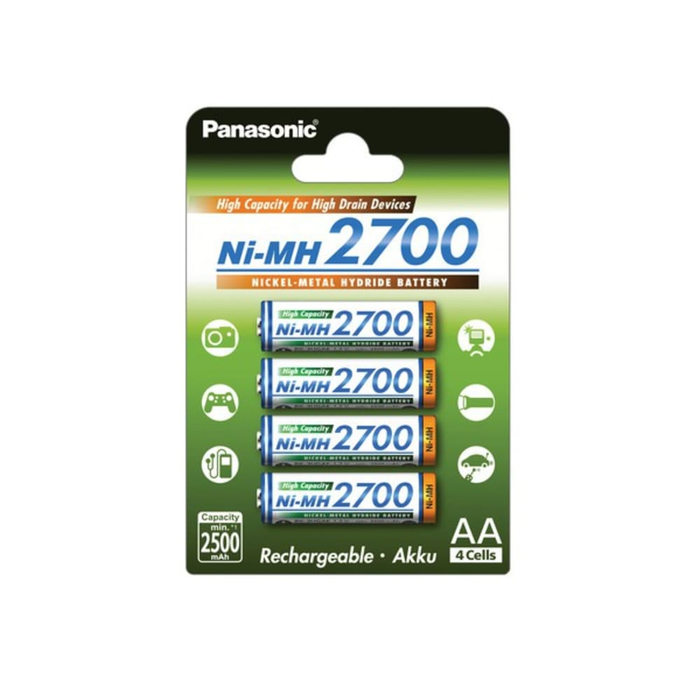 Accus Batteries AA Panasonic BK-3HGAE 4x AA / Mignon / R6 / LR6  / HR6 - 2700mAh