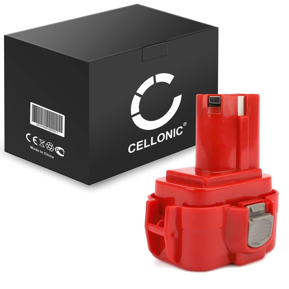 CELLONIC® 9120, 9120, 9134, 9135, 9133, 192638-6, 9102 batteri för Makita BMR100, 6222d, 6261D, 6207D, 6204D, 6226D, 6260D trådlösa verktyg med 9.6V, 3Ah och NiMH