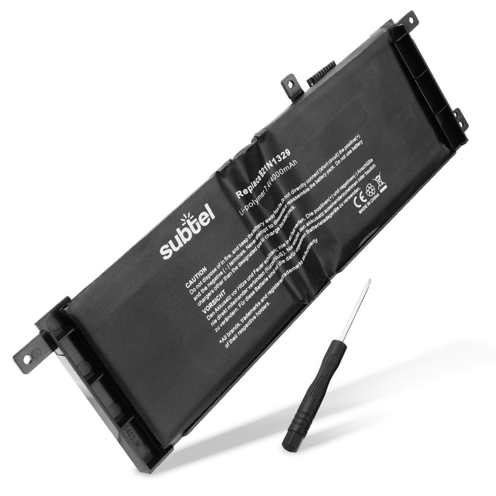 subtel® Laptop Battery for ASUS A453M A553M D453M D553M F453M F553M R413M R515M X453M B21N1329 4000mAh Notebook Replacement Battery Power Bank