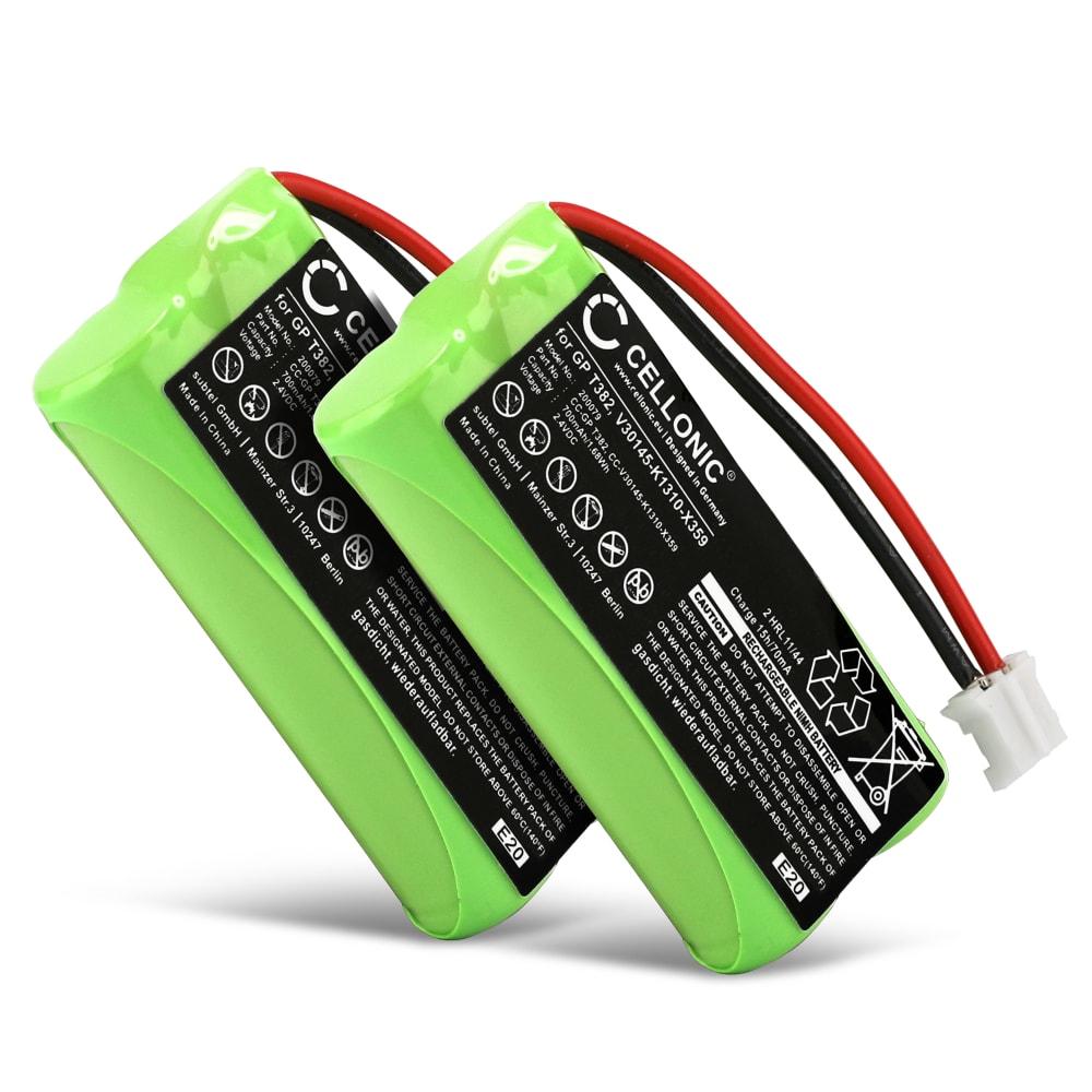 2x Ersatz Akku für Siemens Gigaset A120 A14 A140 A145 A160 A165 A245 A240 A260 A265 - Telefonakku V30145-K1310-X383,V30145-K1310-X359 700mAh Ersatzakku, Batterie