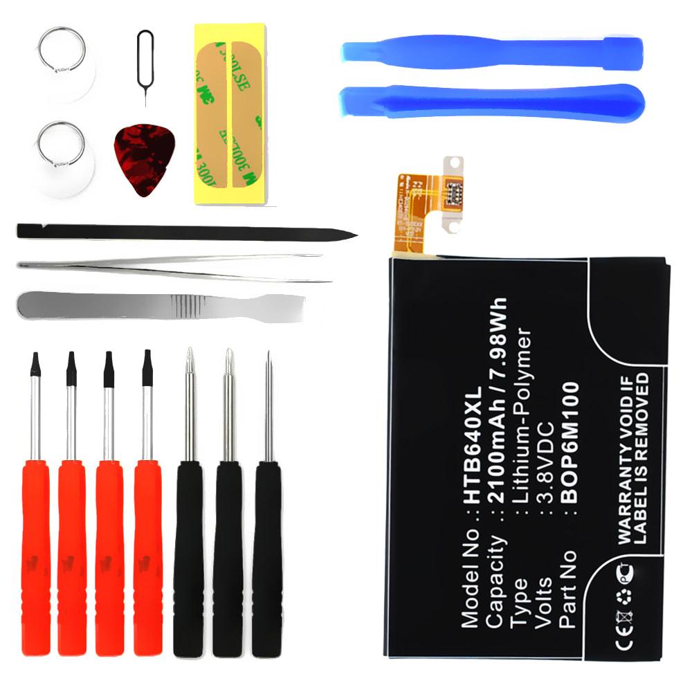 Batterie pour téléphone portableHTC One Mini 2 / M8 / M5 Mini - , 2100mAh interne neuve + Set de micro vissage, kit de remplacement / rechange