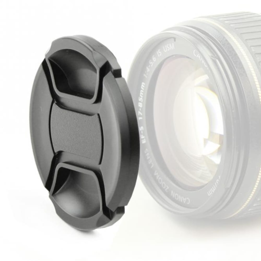 Lens Cap (front) for Ø 58mm (E-58 II,FLCP-58,LC-N58,LC-58,DMW-LFC58GU, Snap On: Inside handle / Central Pinch Protective Cover, Lid