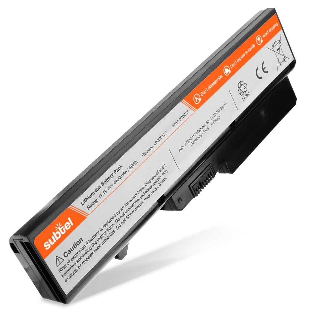 subtel® Laptop Battery for Lenovo G460 / G560 / IdeaPad Z560 / B470 / G465 / G470 / G475 / G565 / G570 L09S6Y02 4400mAh Notebook Replacement Battery Power Bank