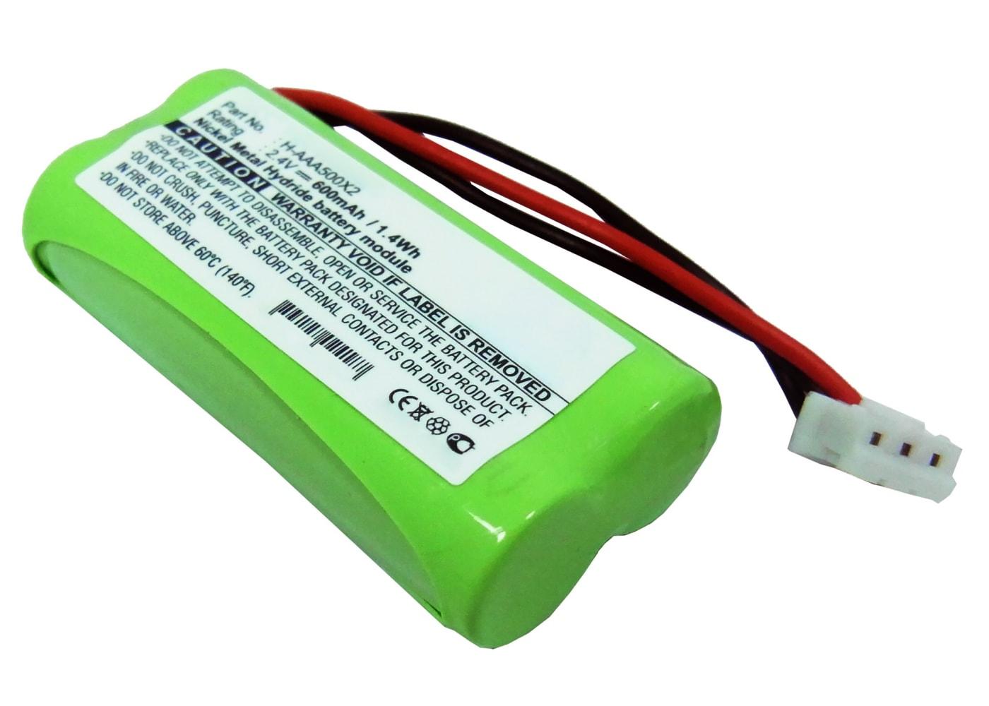 Batterij voor huistelefoon Philips Aleor 300 (Duo, Vox), Kala 300 (Duo, Vox), Xalio 300 (Duo, Vox, DECT), Zenia 300, Kala 3322 - 60AAAH2BMX,T356,T372 600mAh vervangende accu