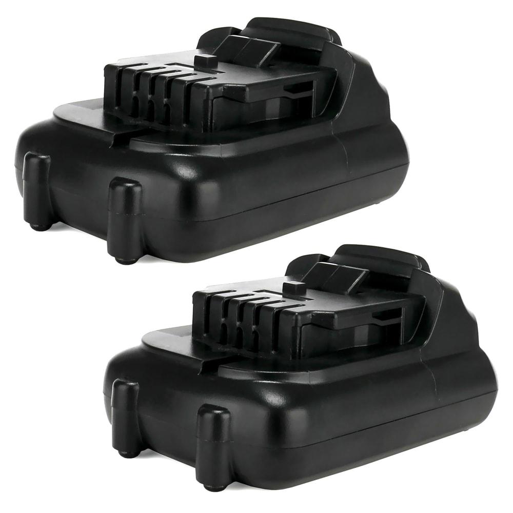 2x Batterie 10.8V, 2Ah, Li Ion pour DCR020, DCR020, DCR027, DCD710D2, DCE089, DCL040 - DCB127, DCB121,DCB123, DCB123, DCB125 batterie de rechange pour outils électroportatifs