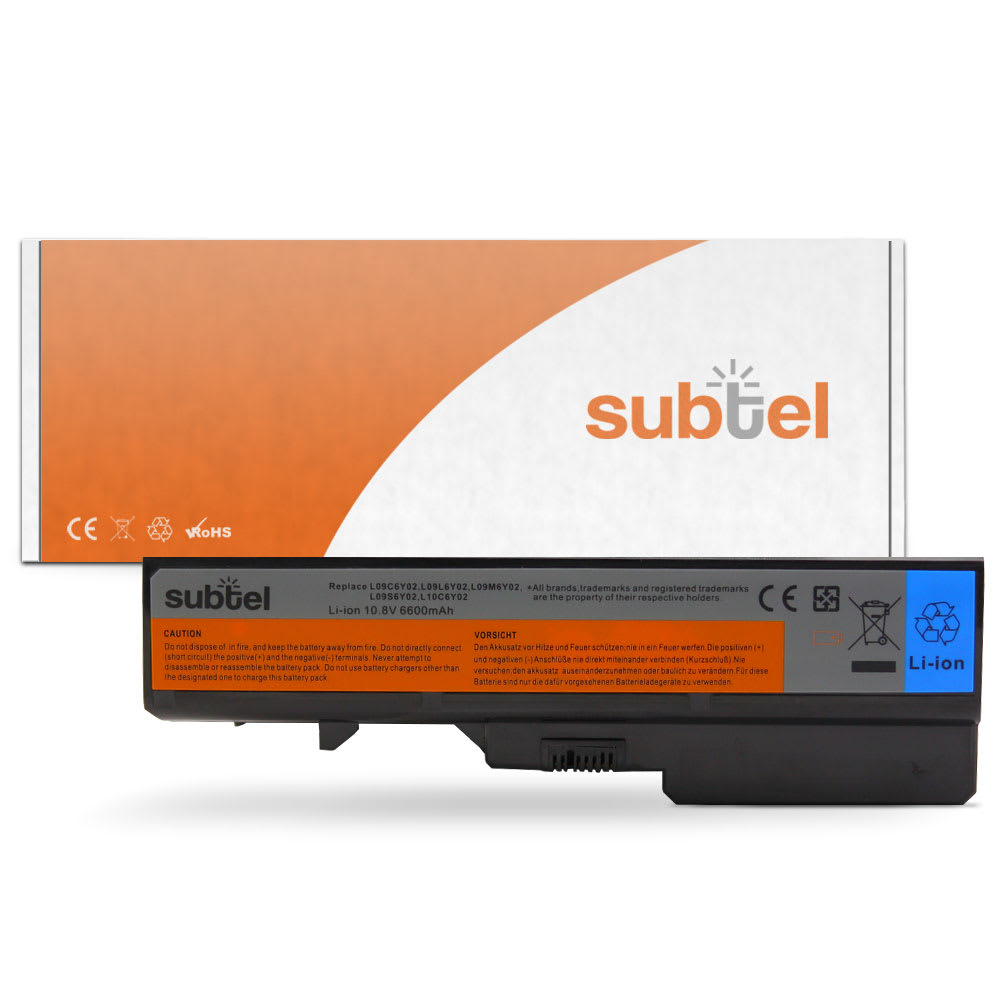 subtel® Laptop Battery for Lenovo G460 / G560 / IdeaPad Z560 / B470 / B570 / G465 / G470 / G475 / G565 / G570 L09S5Y0Z 6600mAh Notebook Replacement Battery Power Bank
